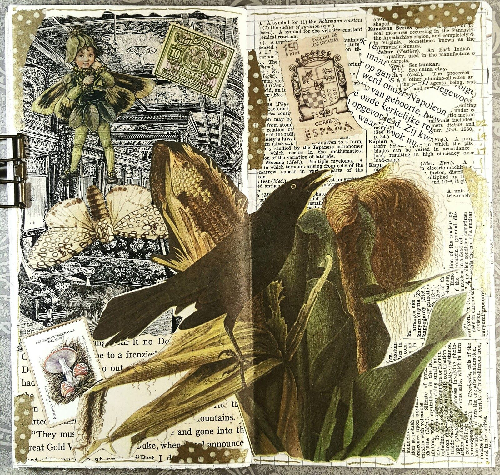 Mixed Media Painting Collage Book Arts Textiles Surface Design And General Musings About My Creative Life Art Collage Art Mixed Media Fairy Art