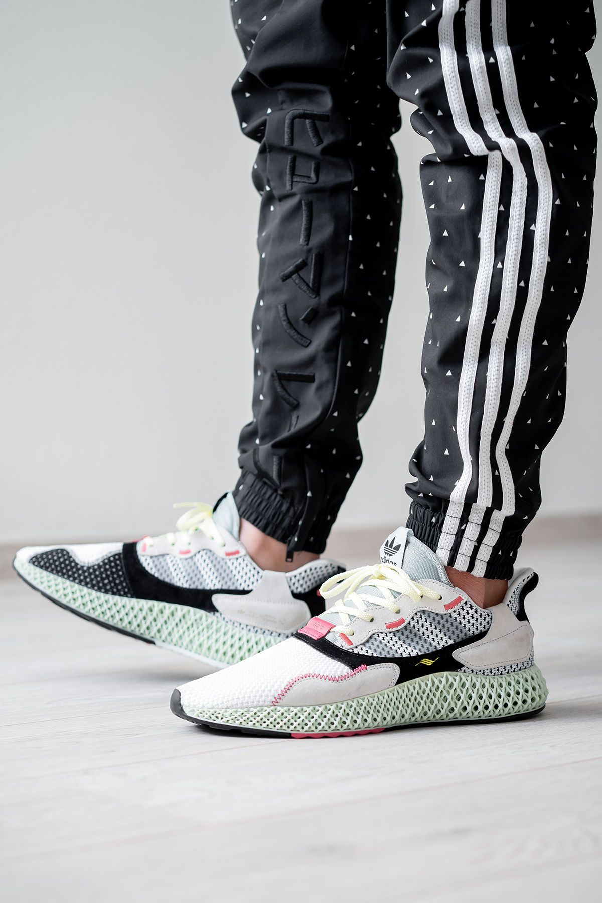 3294f9a29 adidas zx 4000 4d sample randy galang futurecraft fall winter 2018 black  tan beige white mesh woven cream B42203 FTWR WHT GREY TWO LINEN GREEN adidas  zx ...