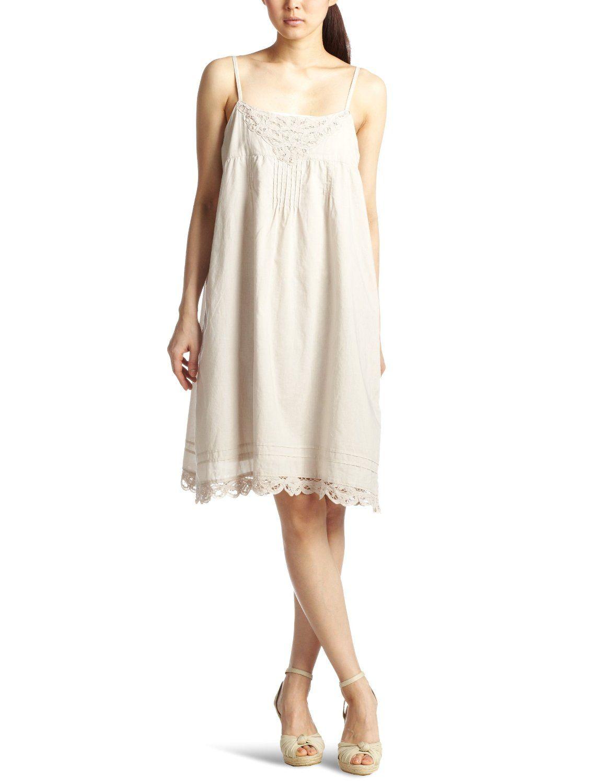 Amazon.co.jp: (アースミュージックアンドエコロジー)earth music ワンピース Batten Lace Cami/NOP 18121H00020: ファッション