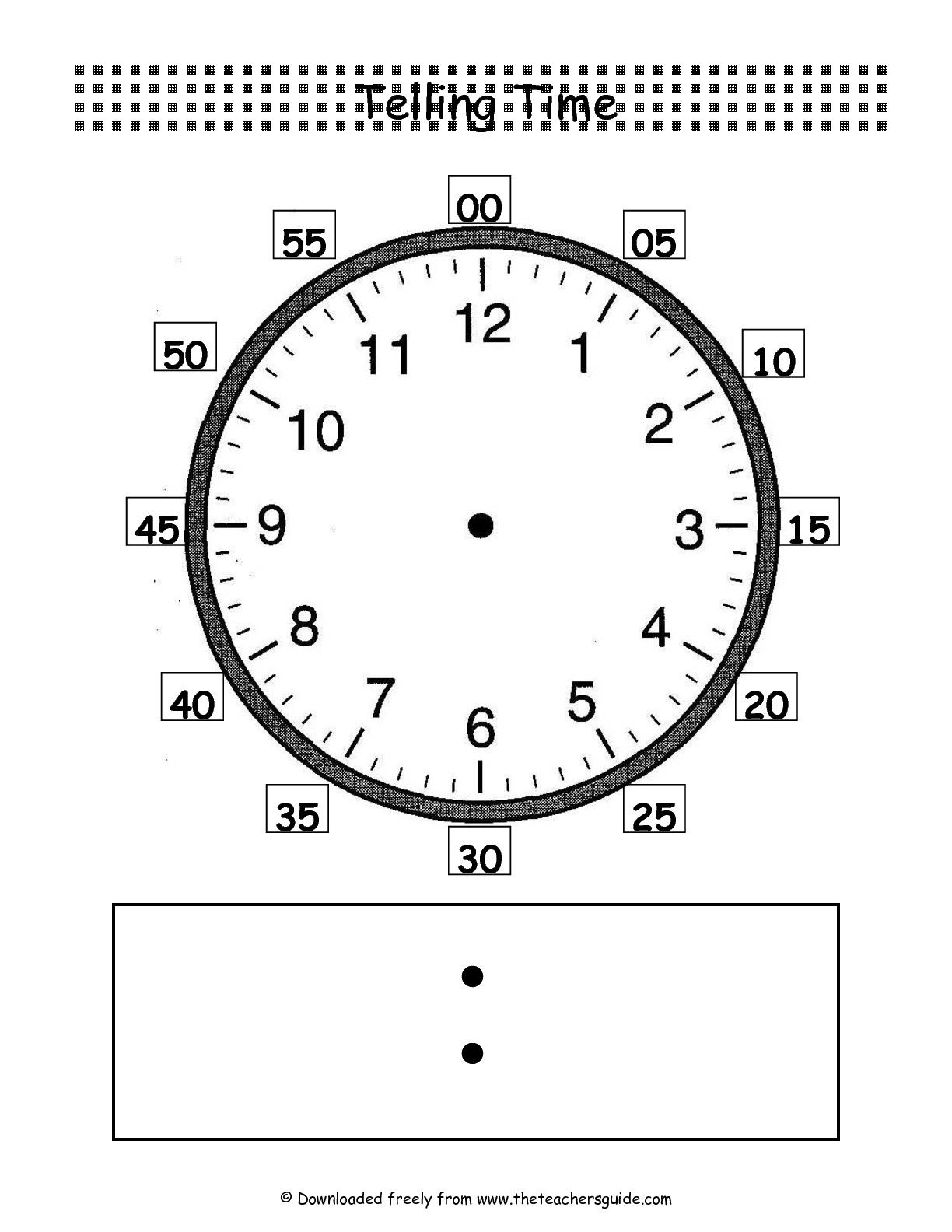 Telling Time Clockface