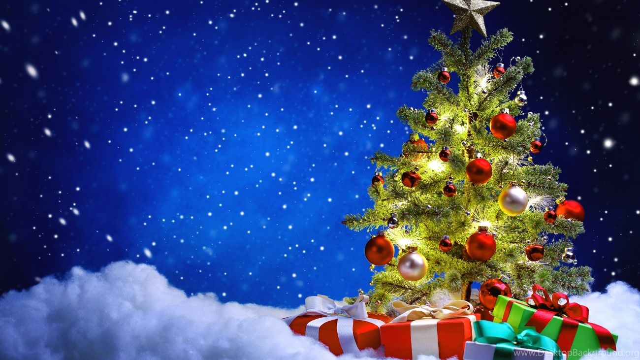 Christmas Wallpaper Tree With Gifts New Hd Download Free