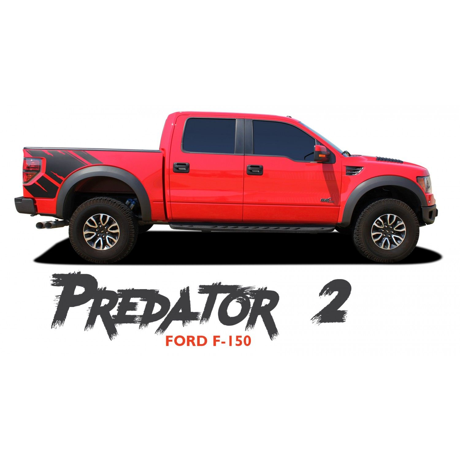 Ford F 150 Predator 2 F Series Raptor Mudslinger Side Truck Bed Vinyl Graphics Decals Striping Kit 2009 2010 2011 2 Ford F150 Vinyl Graphics Car Vinyl Graphics