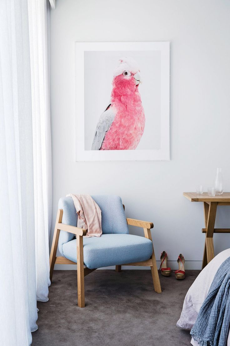 Love the blue chair canvas pinterest contemporary bedrooms