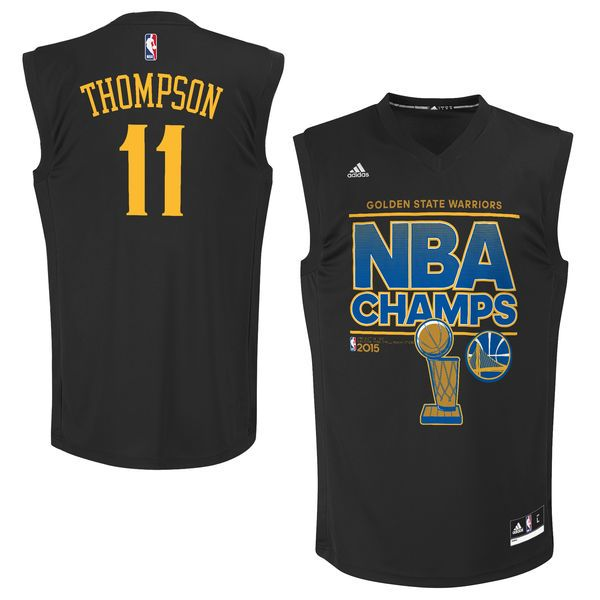Klay Thompson Golden State Warriors adidas 2015 NBA Finals Champions Jersey  - Black - $47.99