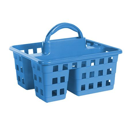 Divided 3 Compartment Plastic Caddies 10x8 75x7 5 In Storage Baskets Plastic Drawers Plastic Baskets