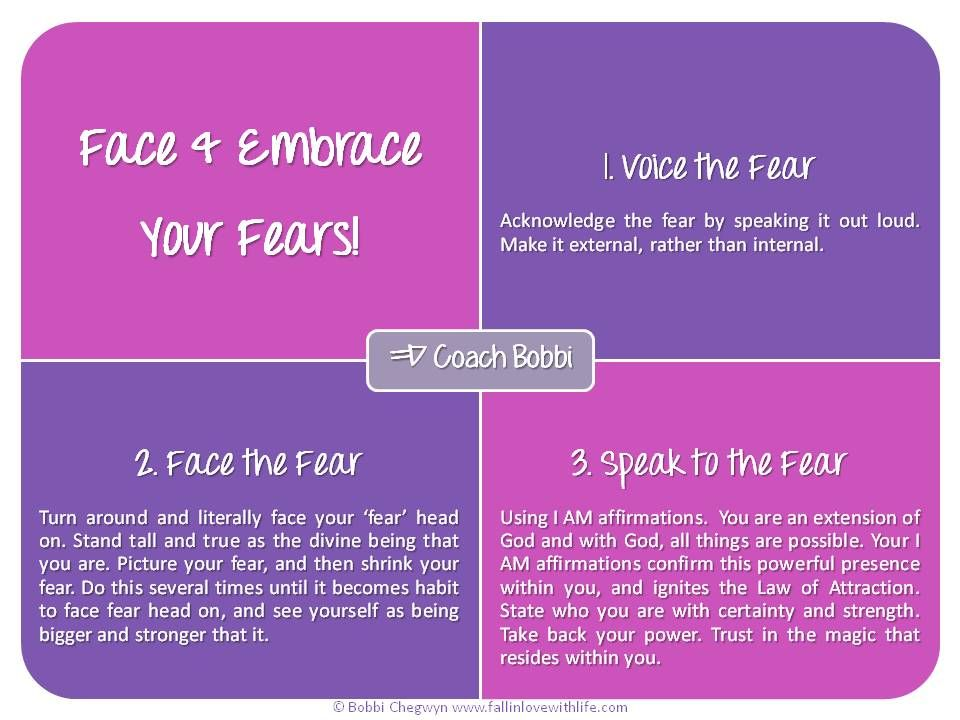 Face & Embrace Your Fears! © Ask Coach Bobbi