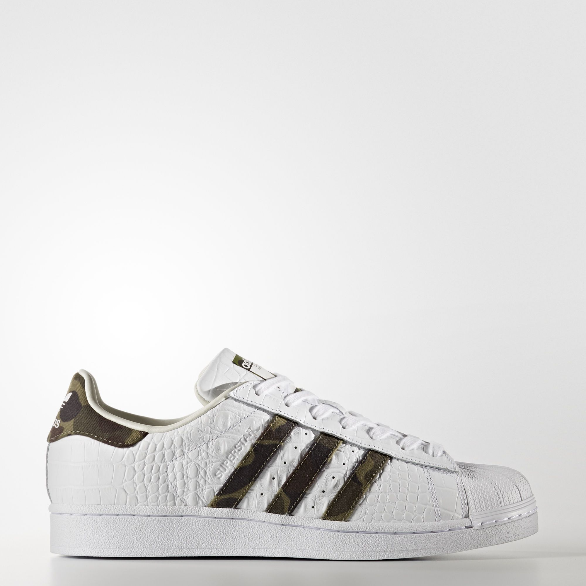 adidas originals superstar leder shell blauw wit