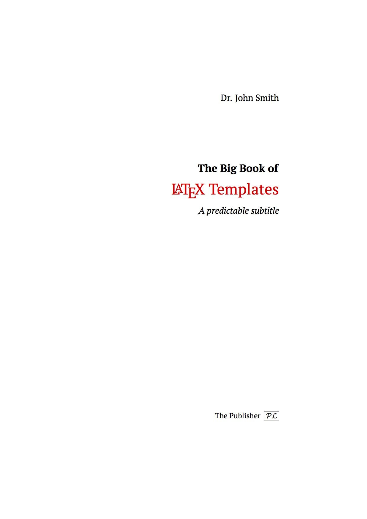 Minimalist Book Title Page LaTeX Template | PhD | Pinterest ...