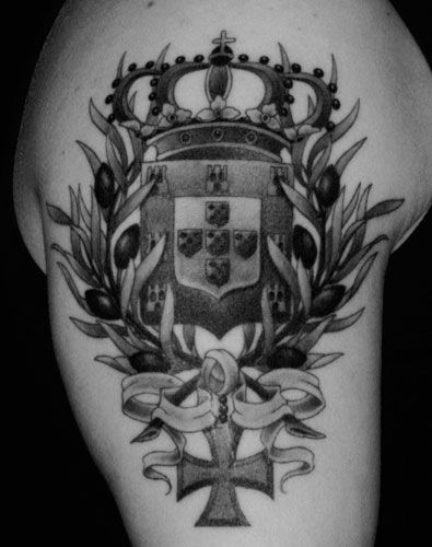 Portuguese Cross Tattoo Designs