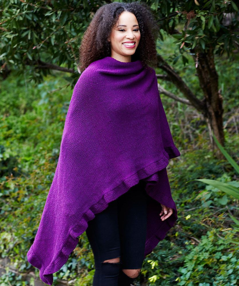 Free Knitting Pattern for an Effortlessly Chic Ruana ...