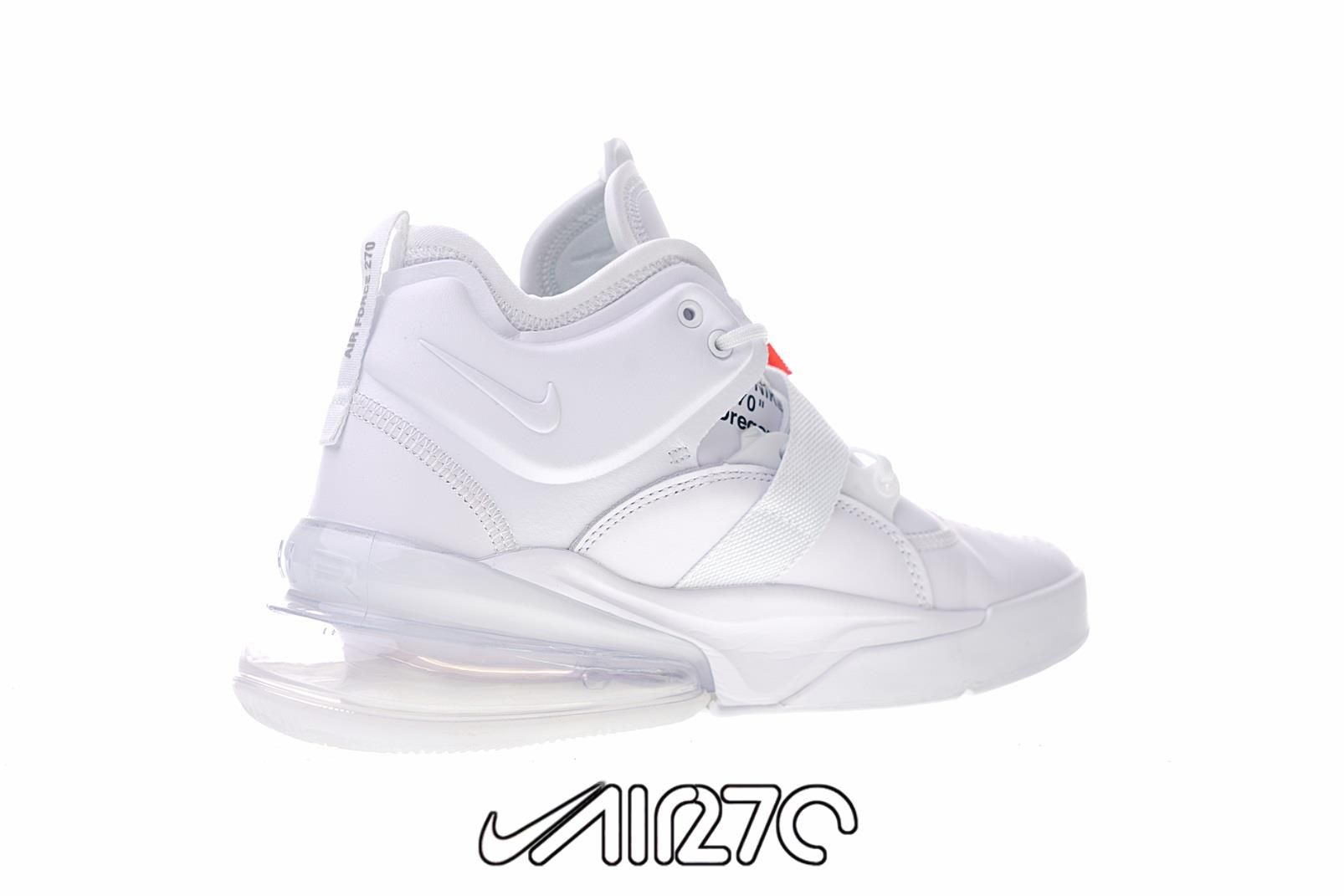 new arrival 375e3 c2d82 Custom Nike Air Force 270 x Off-White- White/Orange-Black ...
