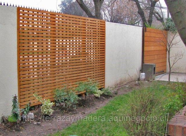 Portones de madera rejas pinterest puertas de madera for Puertas jardin madera