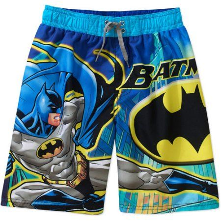 5e5dca3a8b DC Comics Batman Boys' Board Shorts, Size: 6/7, Blue | Products ...
