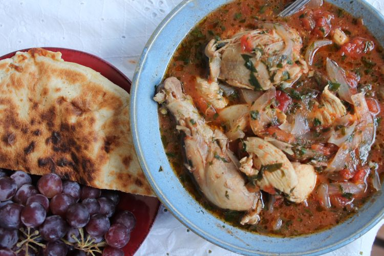 Chakhokhbili is a lot easier to make than it is to