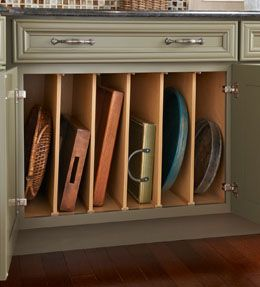 Good Vertical Dividers Can Be Used In Any Base Or Wall Cabinet To Separate Cookie  Sheets, Baking Trays, Platters And More.