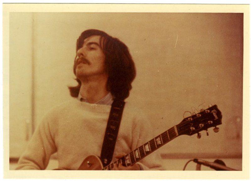 courtesy of get back homeward on tumblr George at Abbey Road