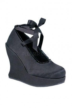 Sexy goth style 5 Inch Wedge Heel shoes main image