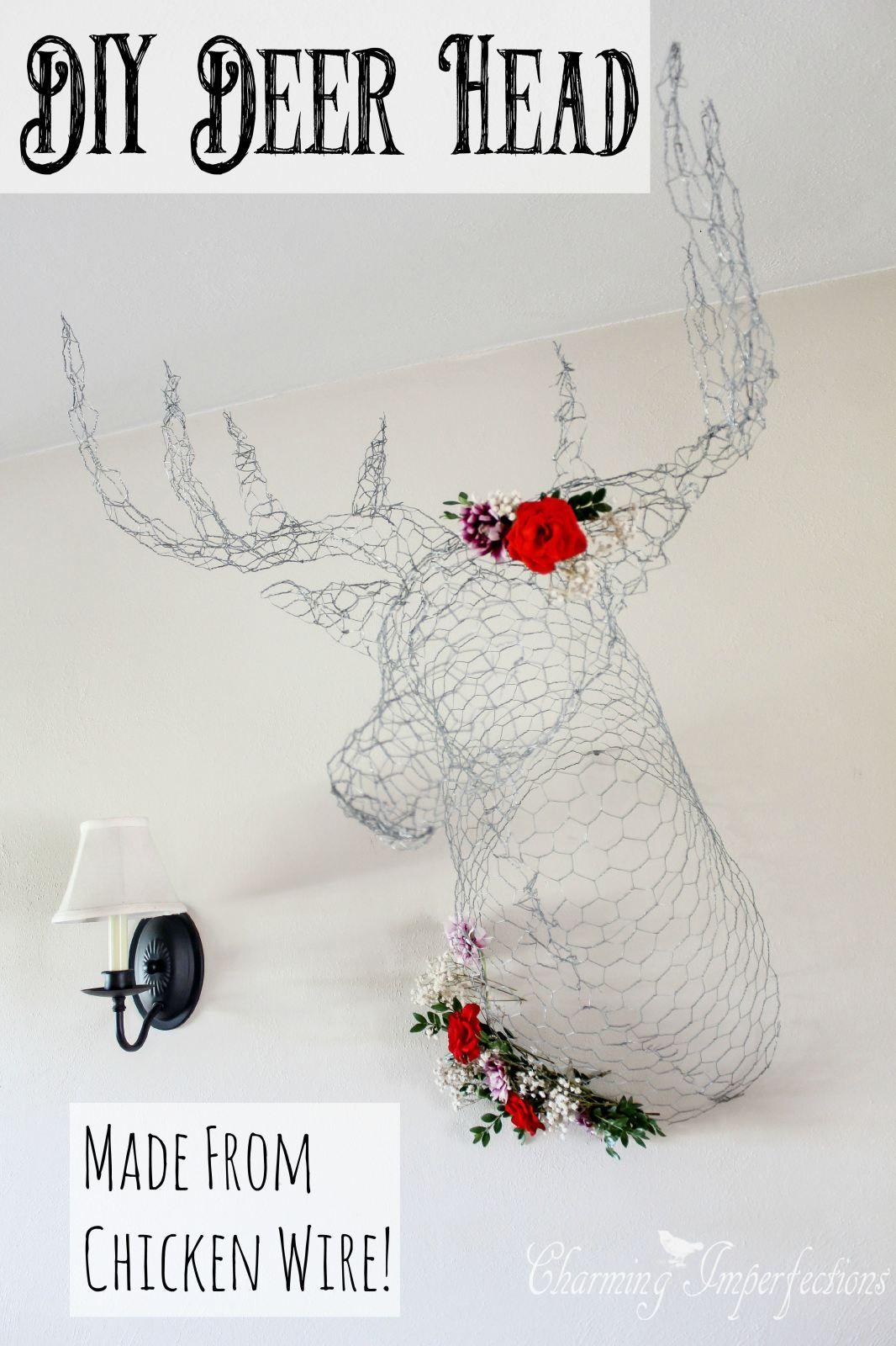 It\'s a Chicken Wire Deer Head | Chicken wire, Wire art and Creative ...