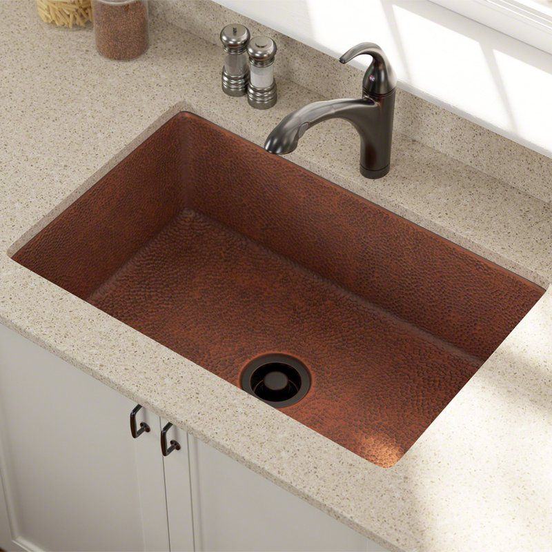 Copper 33 L X 22 W Undermount Kitchen Sink With Images