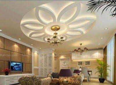 Modern Whitegray False Ceiling Design In Living Room Living - Ceiling design with spot light for living room pop false ceiling