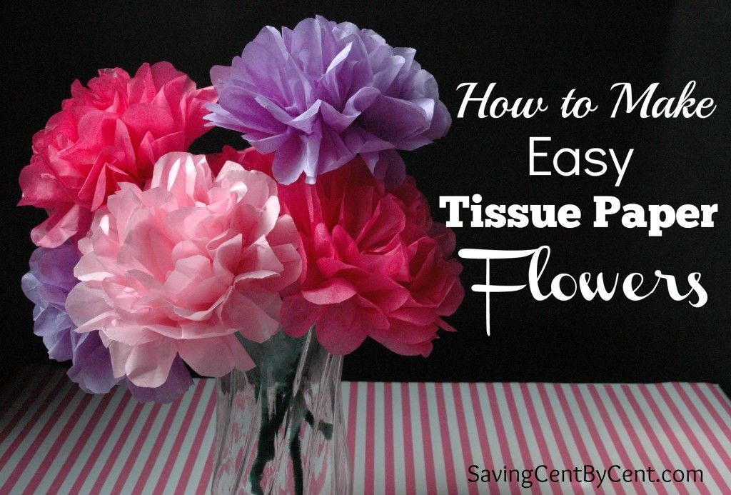 How to make easy tissue paper flowers tissue paper flowers tissue how to make easy tissue paper flowers saving cent by cent mightylinksfo