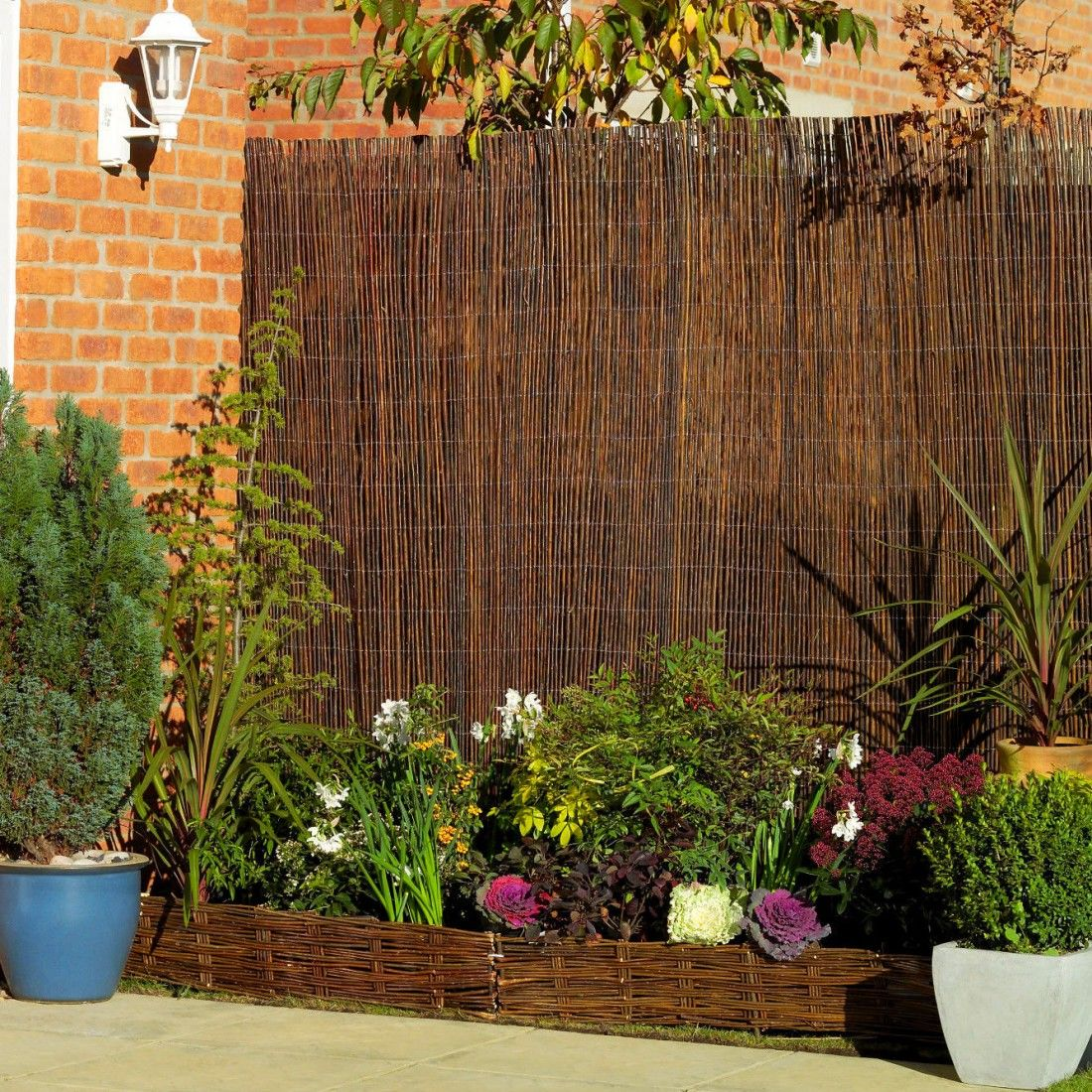 Premium Air Dried Willow Natural Wood Fence Privacy Screening 3m x