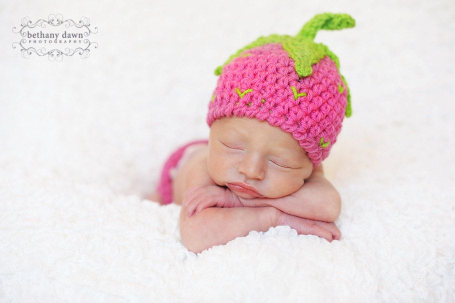 Strawberry Crochet PATTERN - Strawberry Shortcake Beanie & Leg ...