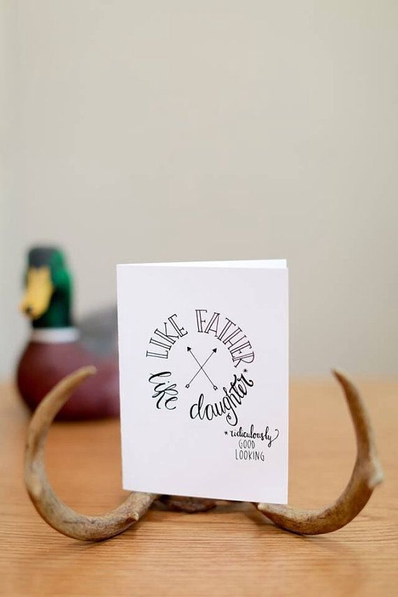 Funny Father Of The Bride Card S Day Daddy Like Daughter Ridiculously Good Looking Hand Lettered Hipster