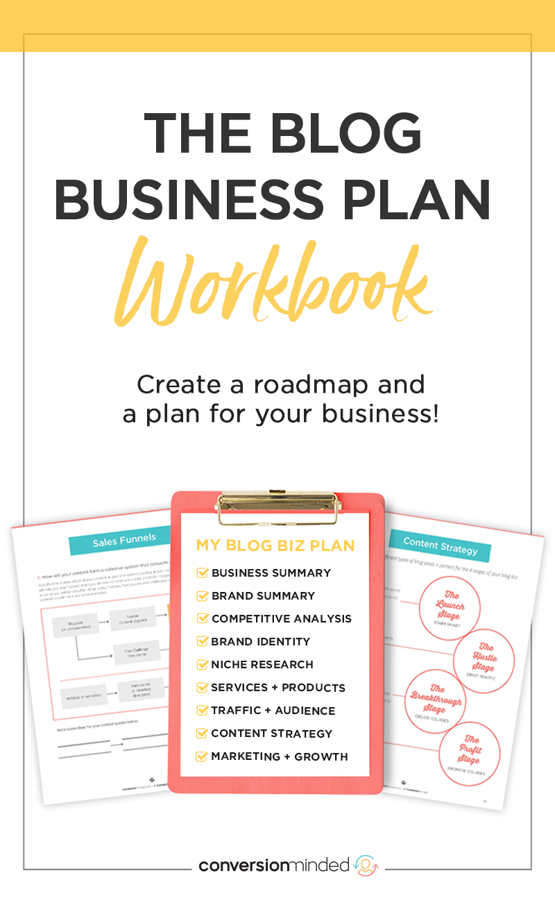 The Blog Business Plan Workbook in 2020 Blog business