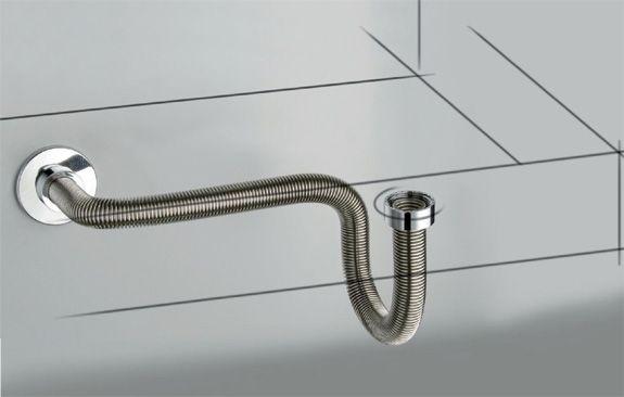 Wastafel Afvoer Monteren : Flexibele afvoer de designsifon voor wastafel of fontein is de