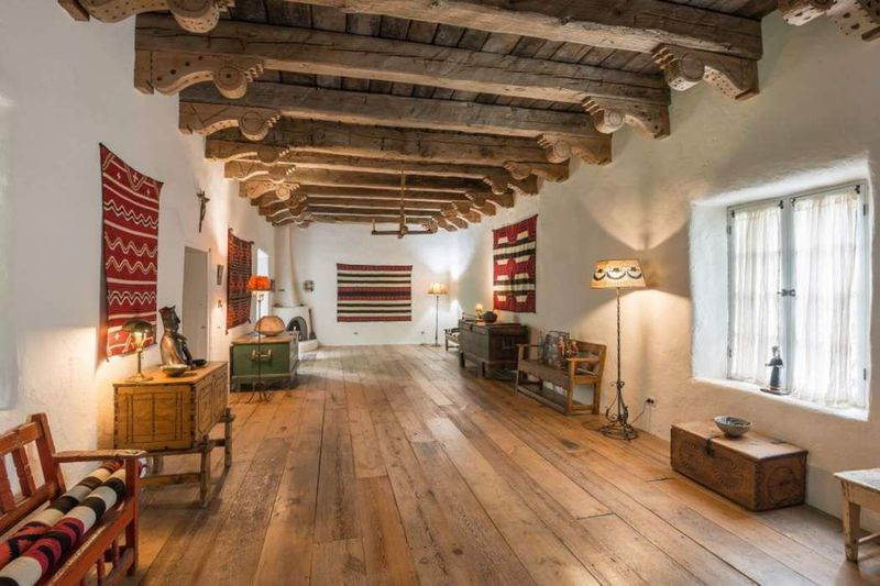 Rustic Adobe Home Asks 895k In Santa Fe Adobe House Home Luxury Homes