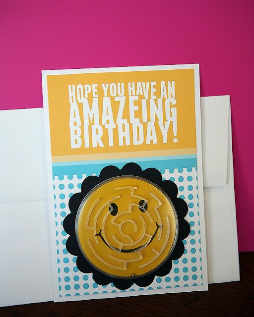 Free birthday card printable 25 smiley face maze from Party City