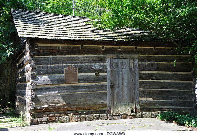 Historic Ogle Log Cabin, Gatlinburg, Tennessee, USA - Stock Image