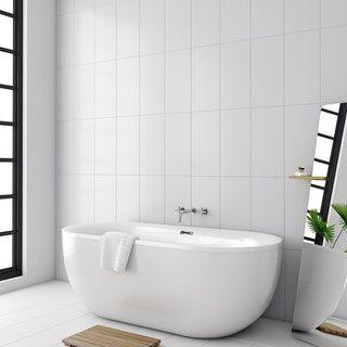 Laura Ashley Marise Field White Wall Tile 248mm X 498mm White Wall Tiles Bathroom Wall Tile Wall Tiles