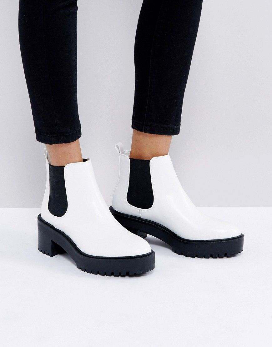 Pull Bear Platform Boot - White 9cb95dfa4cb