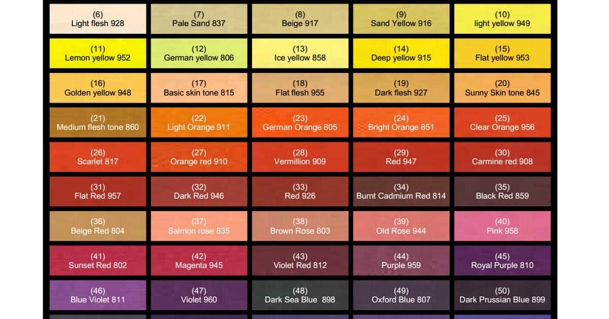 Vallejo Colour Chart Chipspdf Miniature Paint Refs Pinterest