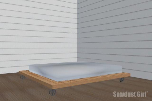 Industrial platform bed - free and easy project plans from https ...