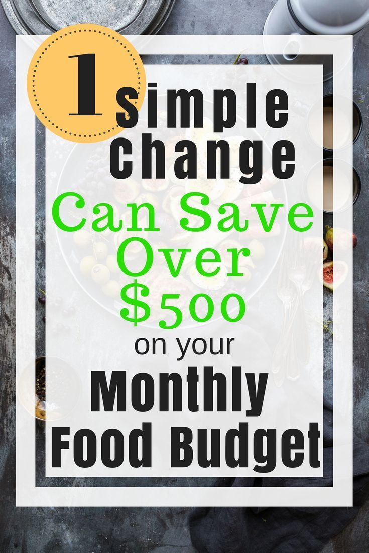 Reduce your monthly food budget by $500 with one easy tip! #startsavingmoney