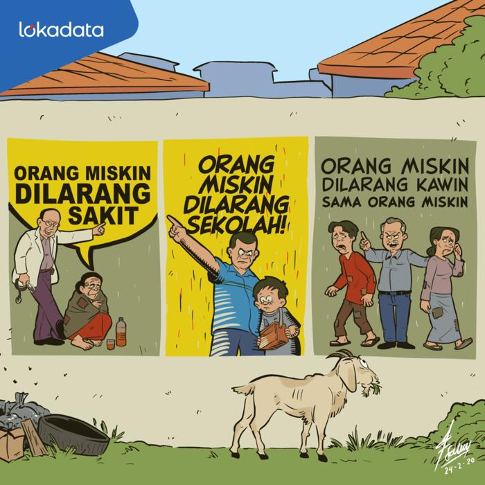 Kartun Negara Mengawinkan Si Kaya Dan Si Miskin Kartun Agama Orang