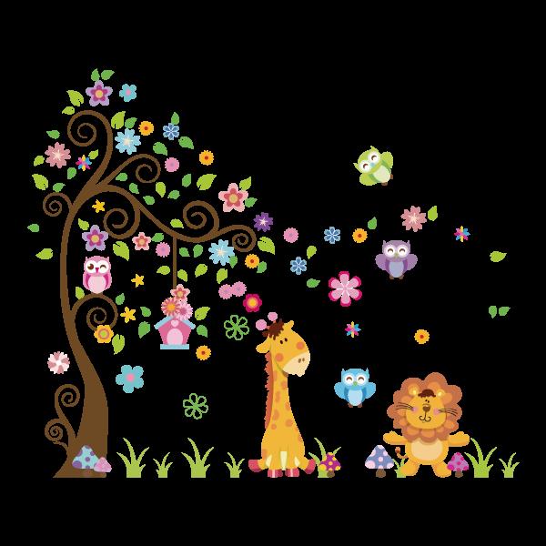 f46c19bad4e Adesivo de Parede Infantil Árvore e Animais. Reinvente sua casa com este  adesivo decorativo. Decore salas
