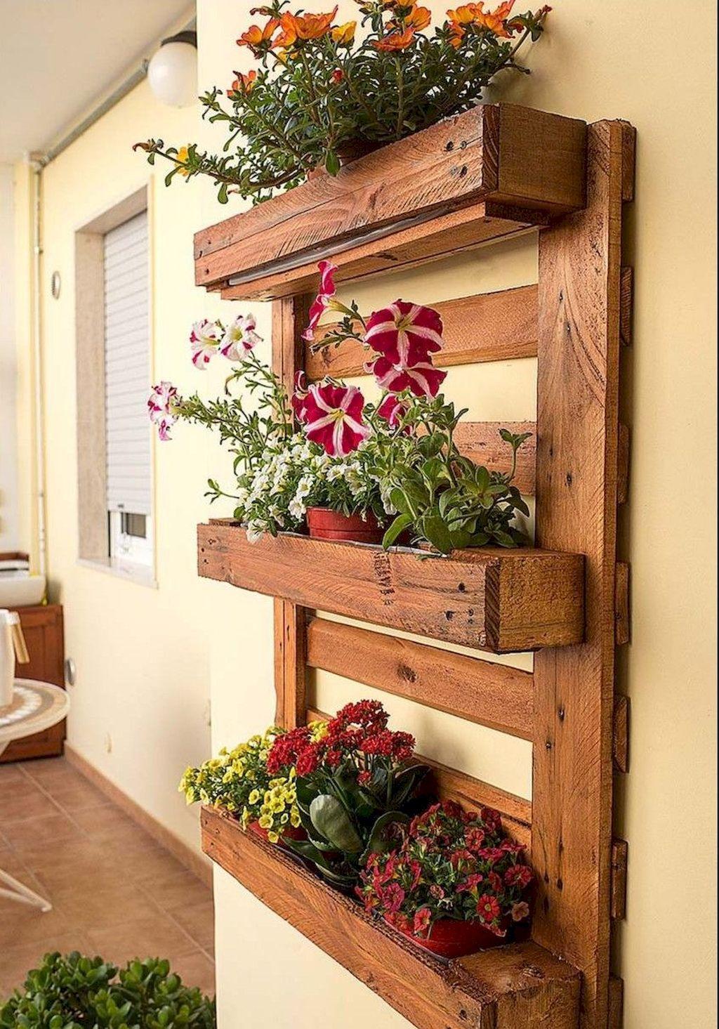 70 Easy Diy Pallet Project Home Decor Ideas Jardiniere Murale