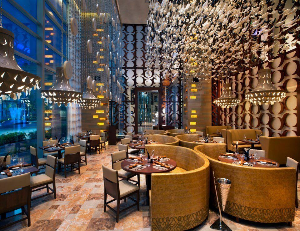 Take A Look At The Restaurants Of The New W Singapore Bar Design Restaurant Restaurant Design Singapore Hotels