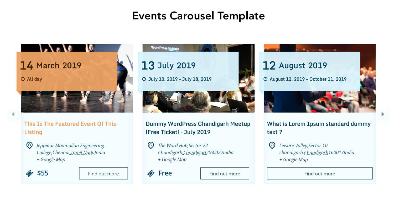 The Events Calendar Shortcode and Templates Pro - WordPress