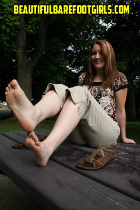 girl Beautiful feet barefoot