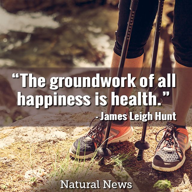 The groundwork of all happiness is health - NaturalNews.com