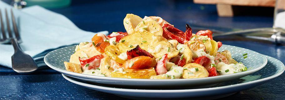 Rezept Kartoffelsalat mit Ofengemüse mit THOMY Joghurt Salat-Creme