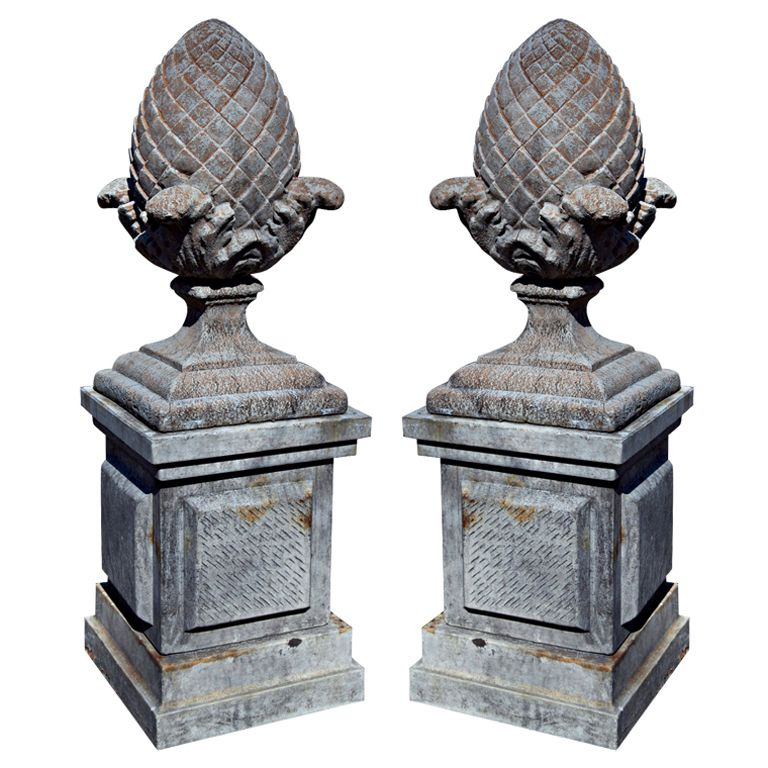 Antique And Vintage Garden Ornaments 1 793 For Sale At 1stdibs Pineapple Decor Tuscan Decorating Stone