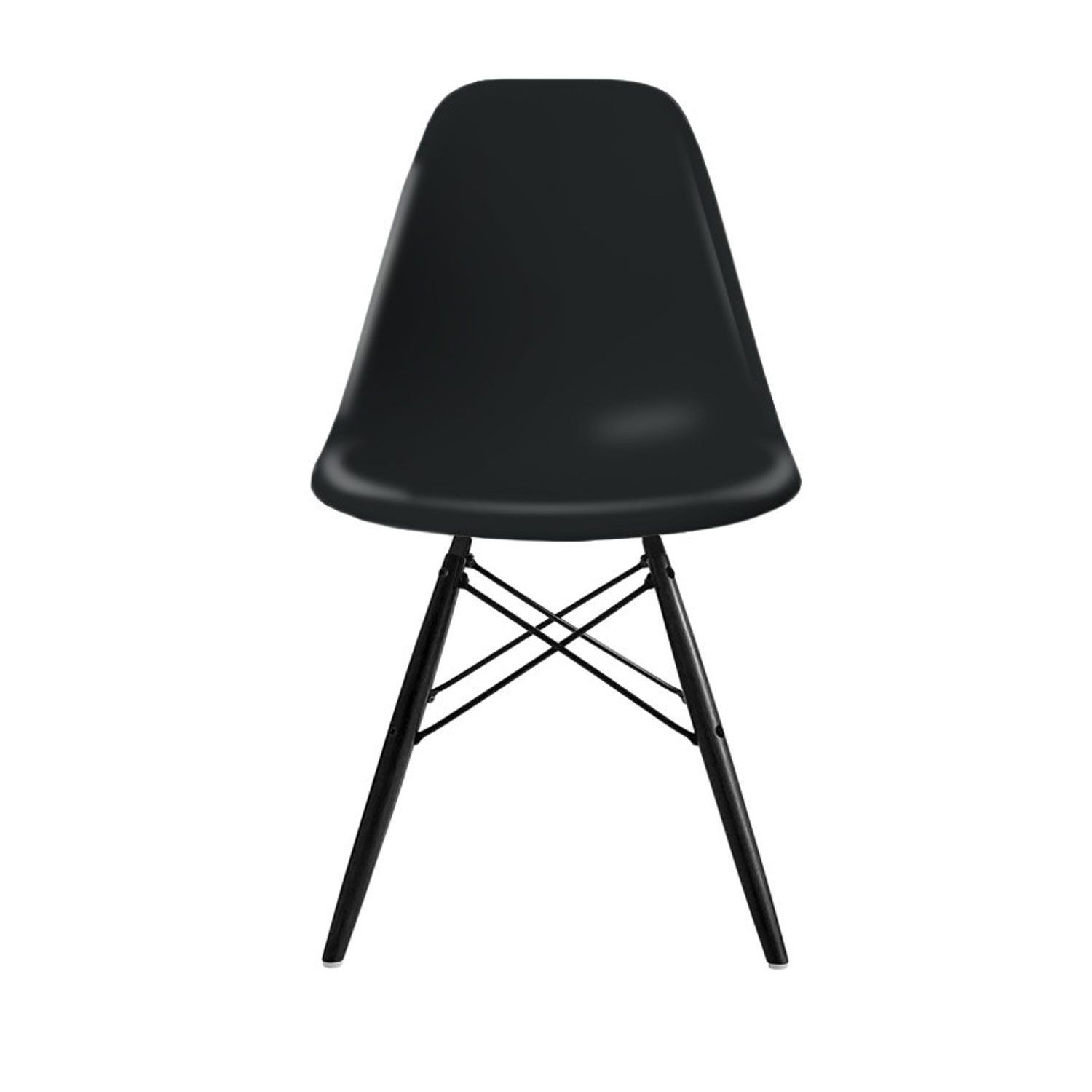 Eames Plastic Side Chair, DSW svarta träben, basic dark från Vitra ...