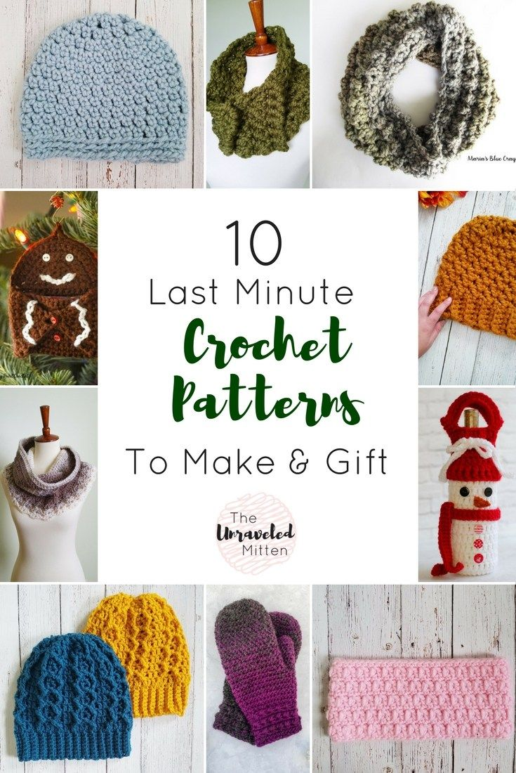 10 Crochet Patterns to Make that are Perfect for Last Minute Gifts ...