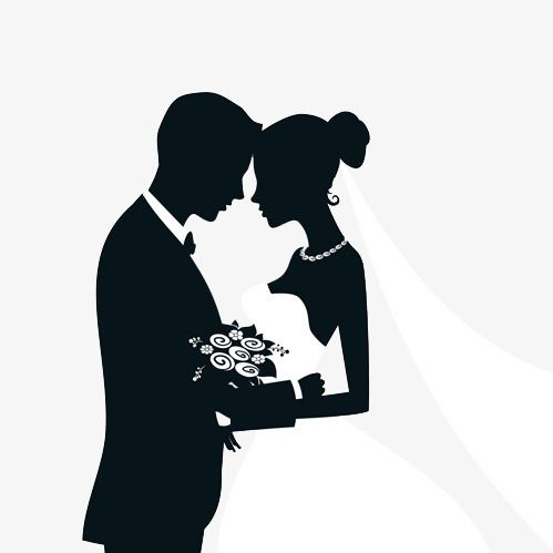 Silhouette Marriage Png And Clipart Wedding Silhouette Bride And Groom Silhouette Silhouette